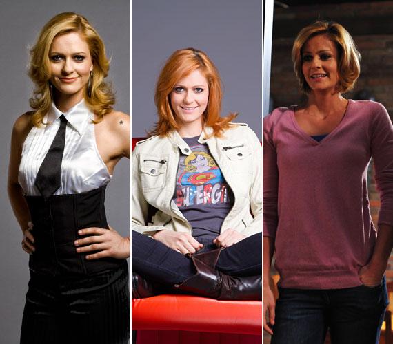 A konkurens csatorna, a TV2 Jóban Rosszban című szappanoperájában Fábián Anita színésznő volt látható először szőke hosszú, majd vörös, végül szőke rövid hajjal.