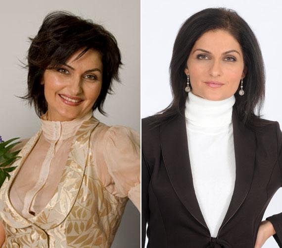 Varga Izabellát is különböző hajviseletekkel láthatták a tévénézők.