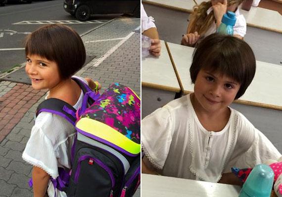 Ábel Anita egy szem gyermeke, Luca kiköpött az édesanyja. A kislány idén szeptemberben ment első osztályba.