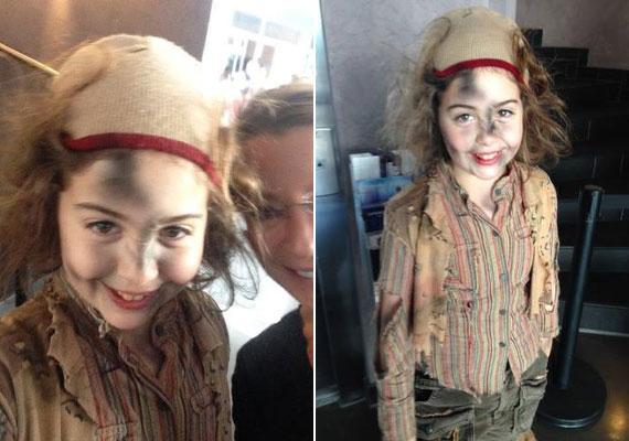 Stahl Judit kislánya pár hónap múlva lesz 11 éves. Hanna imádja a színházat, most nem a nézőtéren ül, hanem a színpadon látható.