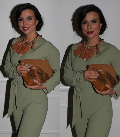 Marenec Fruzsina  A széria Harmathy Emmáját alakító színésznő egy egyedi, Nanushka által tervezett darabban lépett a vörös szőnyegre.