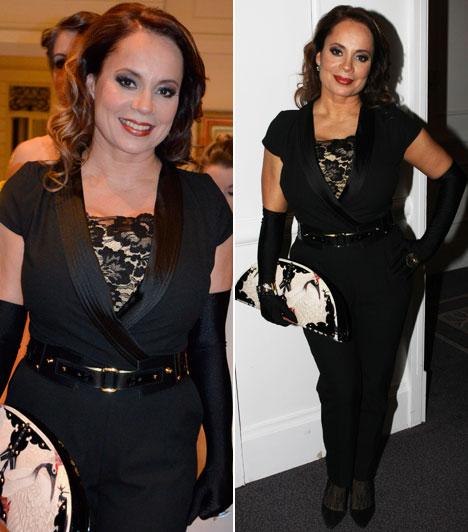 Csisztu ZsuzsaA Digi műsorvezetője a Maison Marquise tervezőjének egy fekete összeállításában jelent meg, a táska is Tóth Borit dicséri.