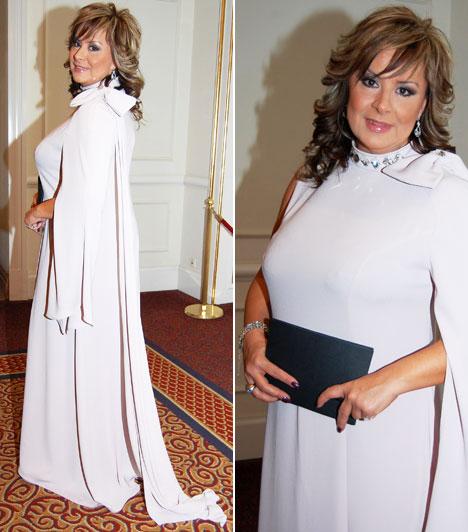 Szulák AndreaA színésznő és műsorvezető, az est moderátora igazi dívaként viselte a Lacca bézs színű kreációját.