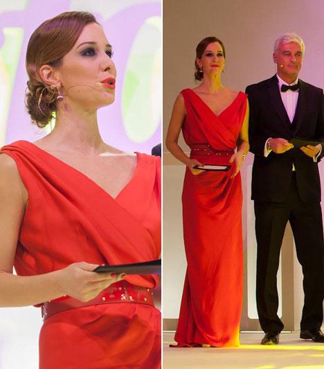 Demcsák Zsuzsa                         Az est női műsorvezetője a Maison Marquise idei évi tavaszi-nyári kollekciójából választott egy piros estélyit, abban vezényelte le a díjátadót. A Tóth Bori által tervezett ruhát a stylistok is csak dicsérni tudták.