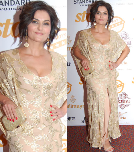 Varga IzabellaA Barátok közt színésznője aranyszínű estélyi ruháját maga tervezte.