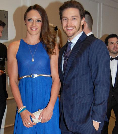 Hosszú Katinka és férje  Az év sportolója díj nyertese természetesen Shane Tusuppal, a férjével érkezett, aki egyben az edzője is.
