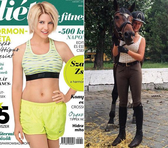 Az RTL Klub műsorvezetőjét 2015 októberében a Diéta és Fitnesz még a címlapjára is kitette. Zsófi állítja, nem koplal, eszik ő rendesen, de a sok lovaglás mellett képtelen elhízni.