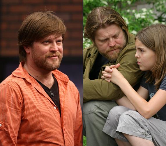 Pár évvel ezelőtt az apuka haja hosszabb, az akkor még kislányé rövidebb volt.