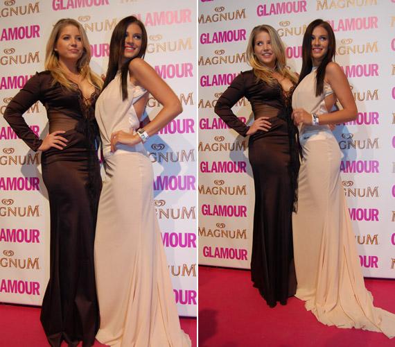 Sarka Katával, az egyik legjobb barátnőjével közösen álltak a kamerák elé a 2013-as Glamour-gálán. A színésznő estélyi ruhája alá nem húzott melltartót.