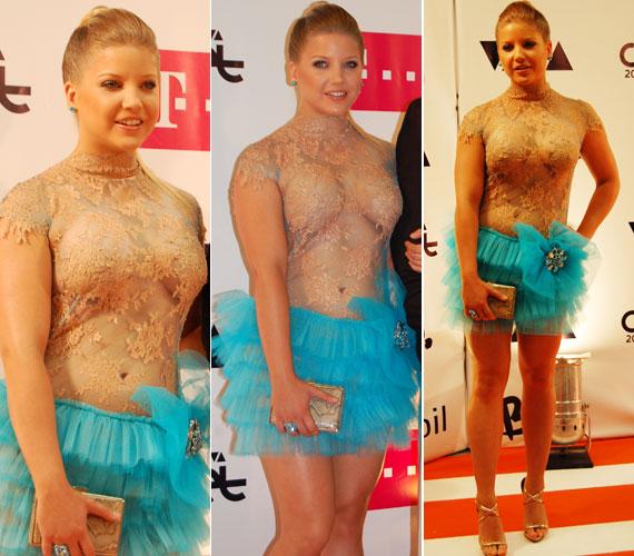 A színésznő az idei VIVA Cometen egy különösen merész ruhában jelent meg.