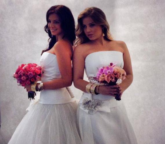 A ruhák egyszerűek, de mégis nagyon szépek voltak, a lányok jól mutattak egymás mellett.