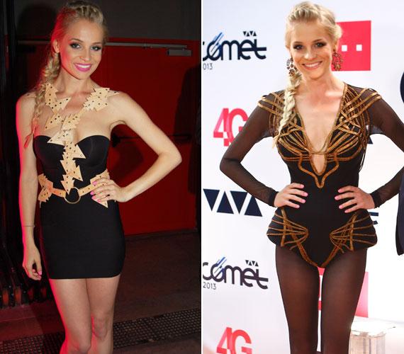 Iszak Eszti, a 13. VIVA Comet díjkiosztó női műsorvezetőjeként úgy volt szexi, hogy a jó ízlés határain belül maradt. Öt különböző ruhában tündökölt. Nézd meg őket!