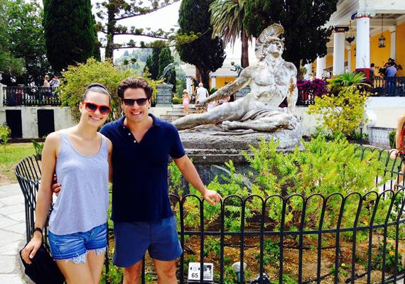 Nagy Sanyi színész és Gubik Petra, az X-Faktor felfedezettje szintén Korfun vakációzott - ők kirándulásukról is osztottak meg fotót.