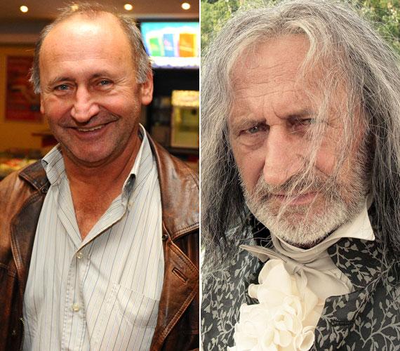 Ugyancsak a Kossuthkifli kedvéért néz ki évtizedekkel öregebbnek a Kossuth- és Jászai Mari-díjas Reviczky Gábor is: hosszú, ősz hajjal őt is nehéz beazonosítani.