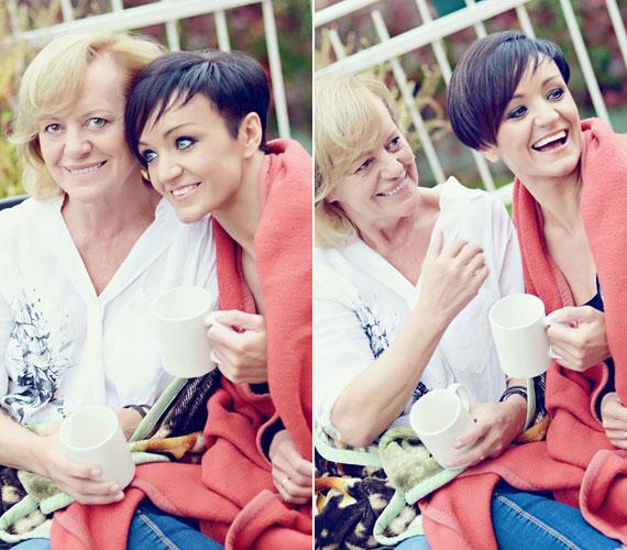 Pintácsi Viki kamerája előtt anya és lánya teljesen feloldódott, nem csoda, hogy sok mosolygós kép készült róluk.