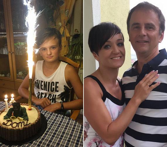 Nagyon jóképű srác lett Szandi és Bogdán Csaba 13 éves fia, Domonkos, aki szerintünk mindkét szülő vonásaiból sokat örökölt.