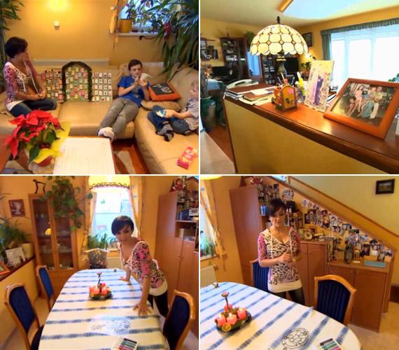 Az étkezőben számtalan fénykép kapott helyet, a család számára ugyanis fontosak az képeken is megörökített emlékek. A kézzel készített ajándékoknak nagy értékük van, a gyerekek így maguk alkotják meg az adventi naptárukat is.