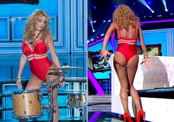 Szandi a Sztárban Sztár első szériájából tért vissza, hogy Tóth Gabi duettpartnere legyen. Shakira és Rihanna közös számának előadása nagyon pikánsra sikeredett.
