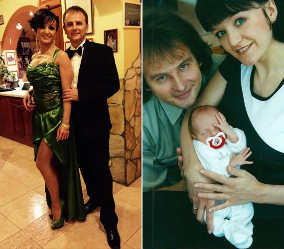 A 38 éves Szandi 16 évvel ezelőtt jött össze férjével, Bogdán Csabával. Kapcsolatukra kimondottan jellemző ez a szám, az énekesnő 16 éves korában ismerte meg a nála 16 évvel idősebb férfit. Három gyermekük született, Blanka, Domonkos és Csaba. A jobb oldali képet Szandi lánya 15. születésnapja alkalmából osztotta meg a Facebookon, a bal oldali a februári Story-gálára menet készült.