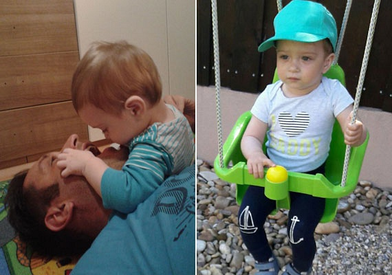Úgy tűnik, az egyéves Patrik már most tudja, hogy mi lesz, ha nagy lesz: édesapja fogait alaposan megvizsgálta. A fotókat a büszke apuka a Facebook-oldalán osztotta meg.