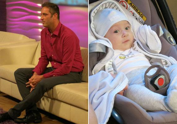Szebeni István három hónappal ezelőtt lett édesapa, azóta a kis Patrik a szeme fénye.