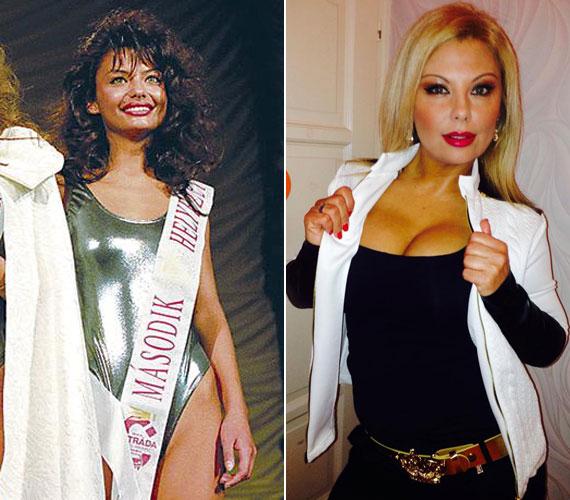 A 45 éves Rábai Tímea 1991-ben második helyezett lett a Miss Hungary szépségversenyen.