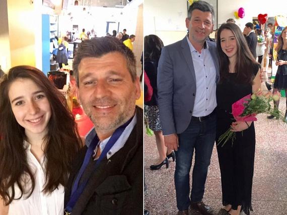Kárász Róbert, a TV2 egykori műsorvezetője a nagyobbik lánya ballagásán járt pénteken, hétfőn pedig a magyar érettségi miatt izgult Annáért.