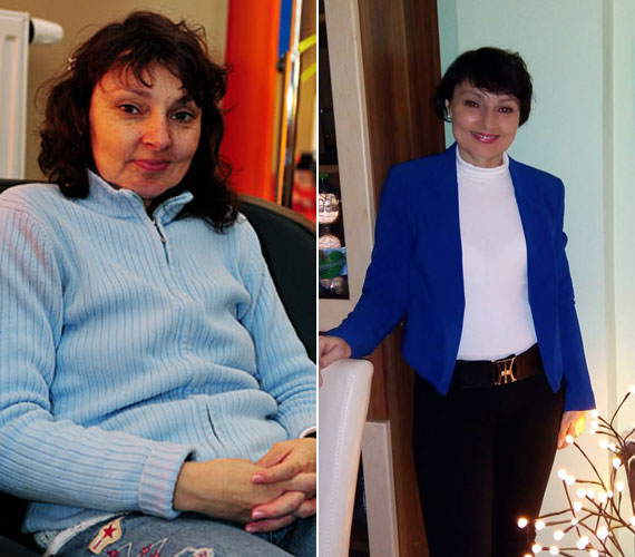 A kék kardigán már a múlté! Szíj Melinda nemcsak ettől, de a kilóktól is megszabadult. A bal oldali fotó a Megasztár előtt készült az énekesnőről, a jobb oldali pedig a minap. Talán nem is láthattuk még ilyen szűk nadrágban.