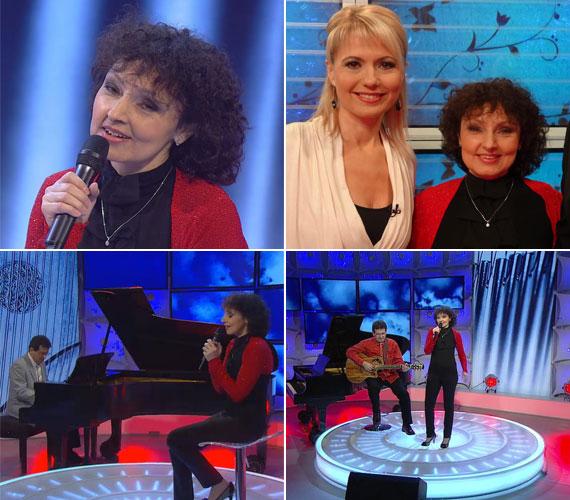 A kívánságkosárban öt dalt énekelt, ezek mind nagy sikert arattak.