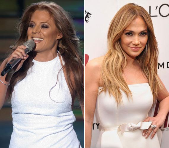 """Lakatos Márk szerint remekül alakította a világhírű énekesnő Jennifer Lopezt: ahogy mondta, """"szuper csaj vagy, és ez végre ki is jött""""."""