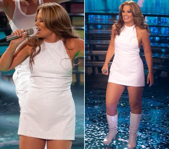Szinetár Dóra kapta már feladatul Jennifer Lopez megformálását is, igaz, ott az átalakulás külsőre nem volt nagy feladat, hisz adott volt a hosszú haj, a barna szem, a kreolos bőr, a hasonló vonalú orr és a száj, valamint az, hogy egyikük sem piszkafa nő.