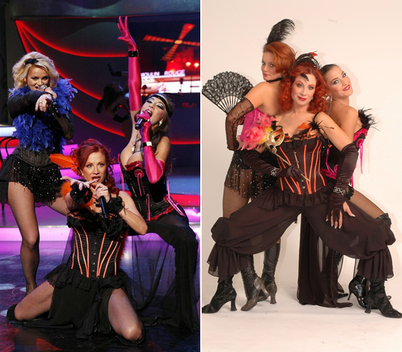 A Dívák nevű formáció tagjai, Détár Enikő, Ladinek Judit és Fésűs Nelly trióként izzanak.