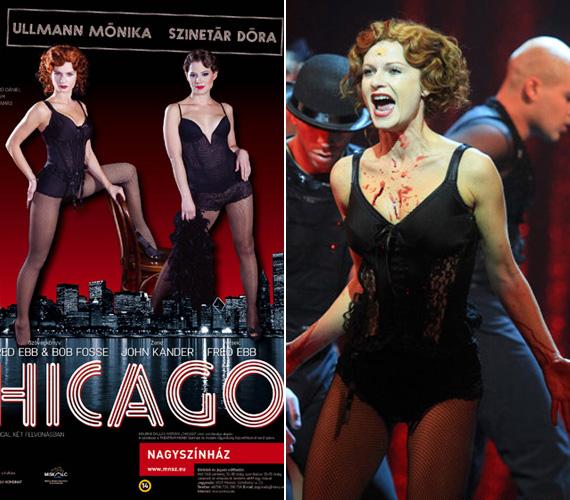 Ugyancsak a Miskolci Nemzeti Színház musicalének egyik szerepében, Velmaként mutatkozott Ullmann Mónika ledéren a nézők előtt.