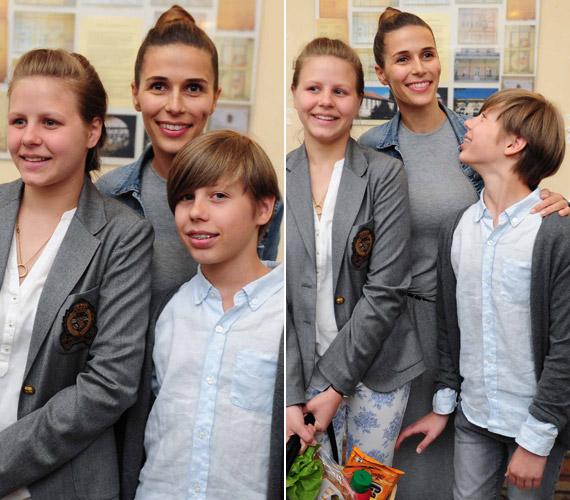 A TV2 műsorvezetője, Szekeres Nóra még csak 34 éves, de már három gyermek édesanyja. 21 éves volt, amikor megszületett első gyermeke, Noa, akit két évvel később, 2003-ban Milán követett. A gyerekek jelenleg 13 és 11 évesek, de lassan lehagyják növésben az anyjukat.