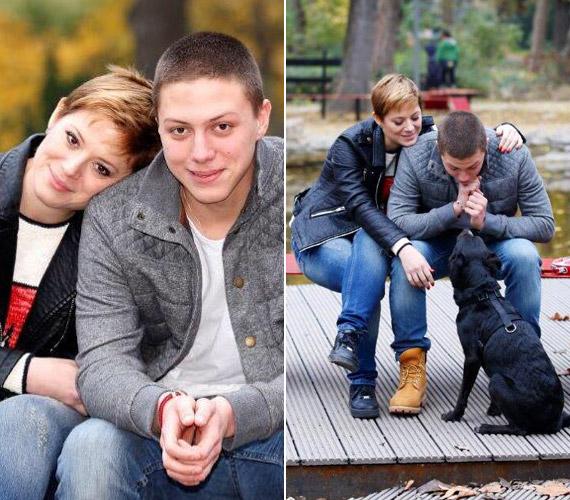 Szinetár Dóra és a 18 éves Marci - ha nem lenne feltűnő köztük a hasonlóság, kevesen gondolkoznának el rajta, hogy a színésznő Facebook-oldalára feltöltött fotón anyát és fiát látják-e.