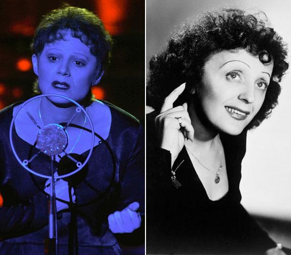 Az előző adásban a 36 éves sztár a verébnek nevezett francia énekesnő, Édith Piaf bőrébe bújt.