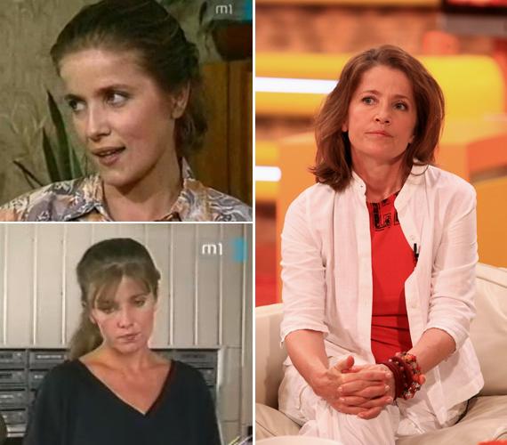 Az 54 éves Fehér Annának a szép pincérnő szerepe jutott a Szomszédokban. Manapság főállású anya, ugyanis 2011-ben megszületett a gyermeke, László Barnabás.