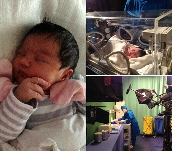12 naposan már kamerák elé állt: a TV2 sorozatában volt szükség egy kisbabára, édesanyját kérdezték meg, elvinné-e a forgatásra. A történet szerint Kembe Sorel és Marton Róbert, azaz Kalem és Kardos doktor vezényelnek le egy szülést.