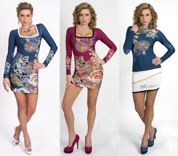Ugyanazok a virágok más-más színű és szabású ruhákon. Csak a lábbelin, a kiegészítőkön és a frizurán kell változtatni, máris alkalmi viselet lesz a hétköznapiból.