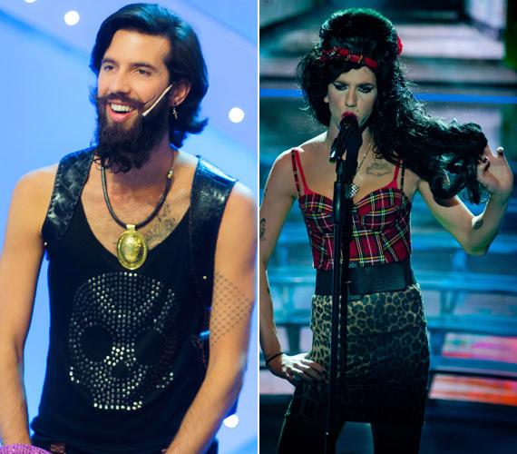 Az első évadban a legtöbbször Varga Viktornak kellett énekesnővé átalakulnia - rögtön az első adásban Amy Winehouse volt.