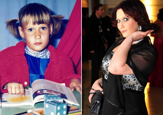 Juhász Adrienn, szinte semmit nem változott, csak nőiesebbé vált.