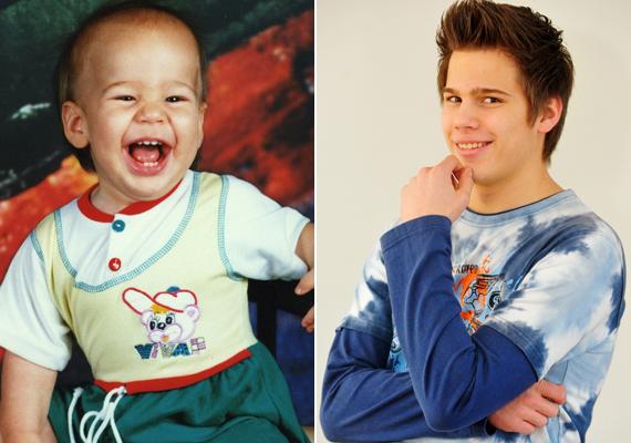 A 19 éves Ripka Kálmán igazi örömmazsola a bal oldali képen, a fiatal színész a mai napig sokat mosolyog.