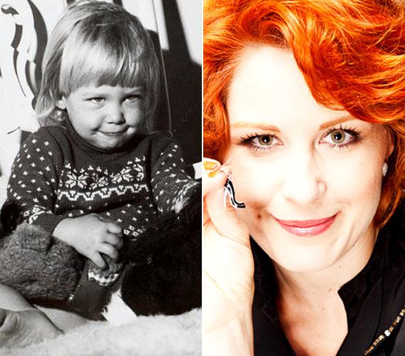 Orosz Barbara vonásai nem sokat változtak az évek során: az elbűvölő gödröcske is megmaradt, amikor mosolyog, a bájos kislányból azonban mára dögös nő lett.