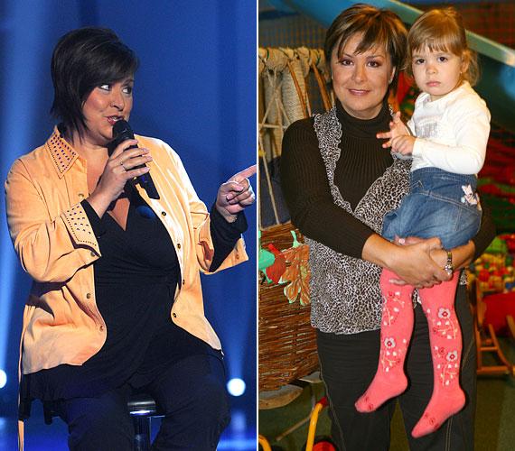 2007-ben, terhessége alatt szedte fel súlyfeleslegét, ami a szülés után is nehezen ment le.