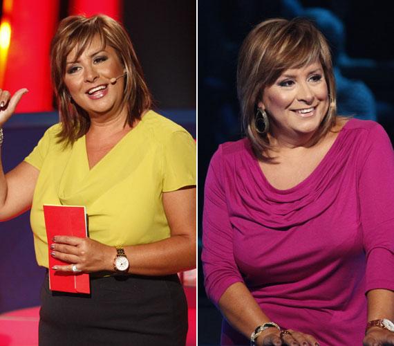 A Szerencsekerék műsorvezetőjeként - Szulák Andreának remekül állnak az élénk színű ruhák, gyakrabban is viselhetne ilyeneket.