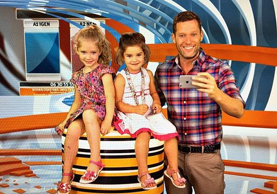 Váczi Gergőéknél is teljes a nőuralom, Dóri már hatesztendős, Blanka pedig négyéves múlt. A TV2 műsorvezetője szerint kisebbik lánya az erőteljesebb személyiség.
