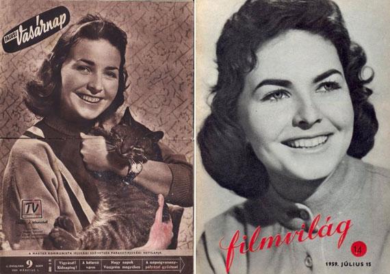 1957. július 25-én mondta el az első, néhány mondatos konferáló szöveget a Magyar Televízióban. Hamar meghódította a nézőket, 1959-ben, 21 éves korában kedvenc cicájával a Falusi Vasárnap című lap borítóját díszítette. Színésznőként is kipróbálta magát, első filmje az 1959-es Szerelemcsütörtök volt - ezért szerepelt a Filmvilág címlapján.