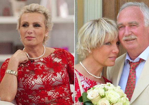 Tallós Rita 52 évesen, piros csipkeruhában mondta ki a boldogító igent 2013-ban: a színésznőnek mára szerencsére a rákot is sikerült leküzdenie, és a házasságában is boldogságra talált.