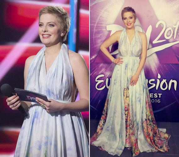 A nézők nagy részének tetszését végre elnyerte Tatár Csilla gyönyörű, földig érő ruhája, amelyet Benes Anita álmodott meg a műsorvezetőnek.