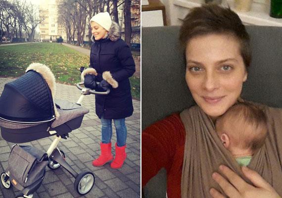 Szülés után egy hónappal: a műsorvezető Facebook-oldalán azt is elárulta, habár igyekszik minden fronton helytállni, nem akar törődni a rosszmájú kommentekkel, miszerint egy anya a csöppsége hároméves koráig miért vállal munkát. Az elmúlt kilenc hét alatt volt fodrásznál és fogorvosnál is, ekkor Milánra párja vagy édesanyja vigyázott.
